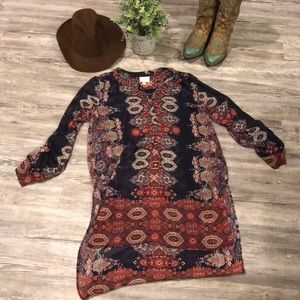 Floral High Low Boho Sheer Blouse LNC